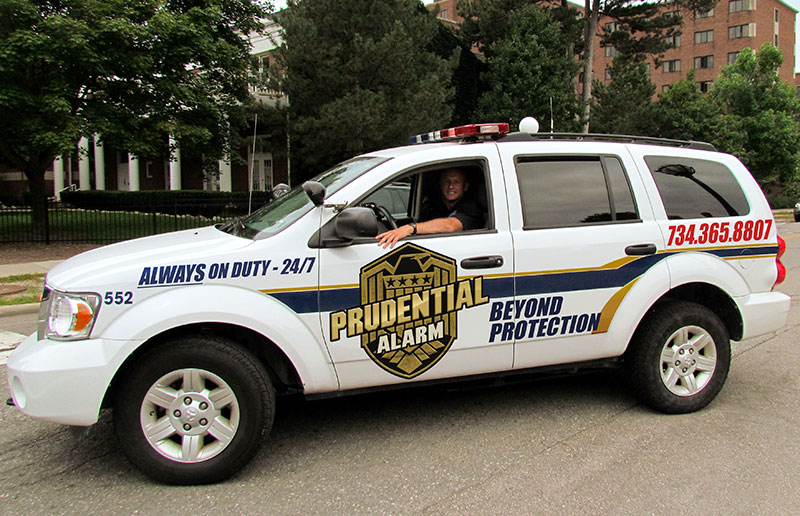 Photo of a Prudential Alarm vehicle