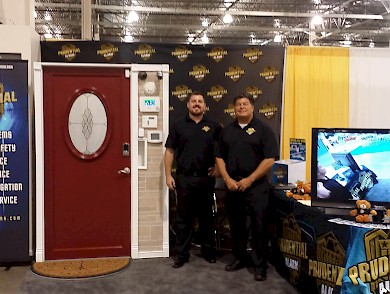 Robert Seggie and Jeff Flynn manning the booth at the 2015 Novi Home Remodeling Show