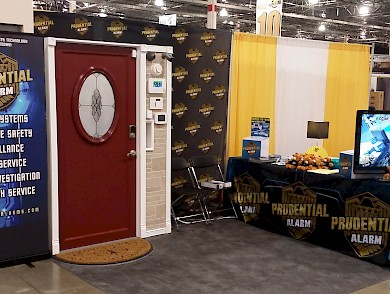 Prudential Alarm booth at the 2015 Novi Home Remodeling Show