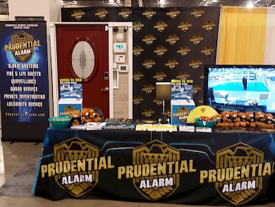 The Prudential Alarm booth at the 2015 Novi Home Remodeling Show