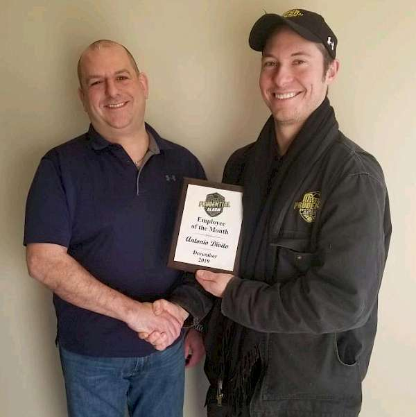 Prudential Alarm December Employee of the Month - Tony Divito
